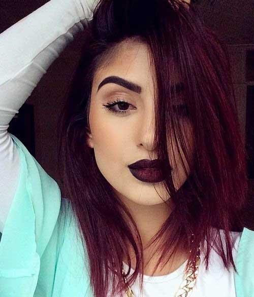 cor de cabelo marsala em foto do tumblr