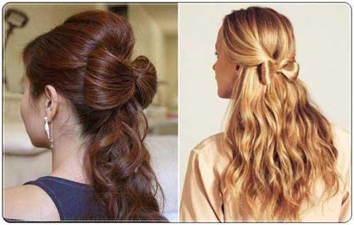 penteado diferente em formato de laço