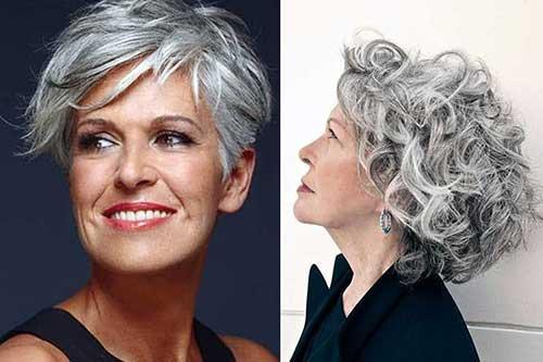cabelos femininos na cor grisalha cuidados