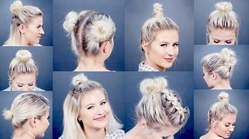 penteado diferente para cabelo curto tipo coque