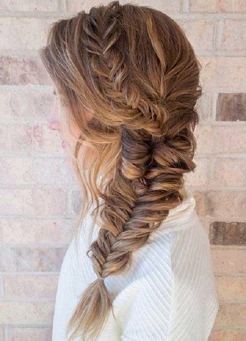 penteado diferente e bonito para cabelo longo
