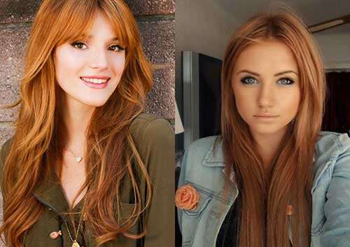cor de cabelo loiro morango