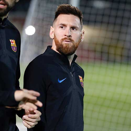 cabelo undercut do messi com barba