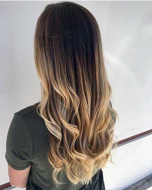 coloração de cabelo do tipo mechas ombre hair