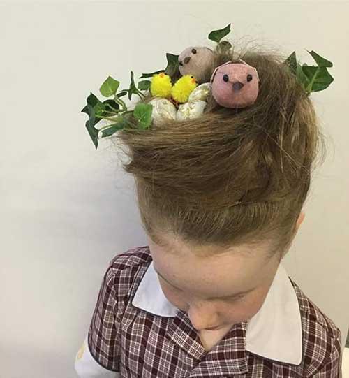 penteado infantil para festa na escola