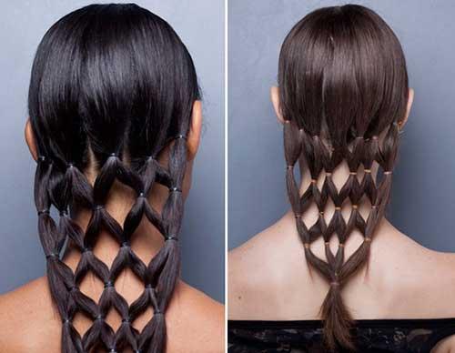 penteado rede em cabelo comprido