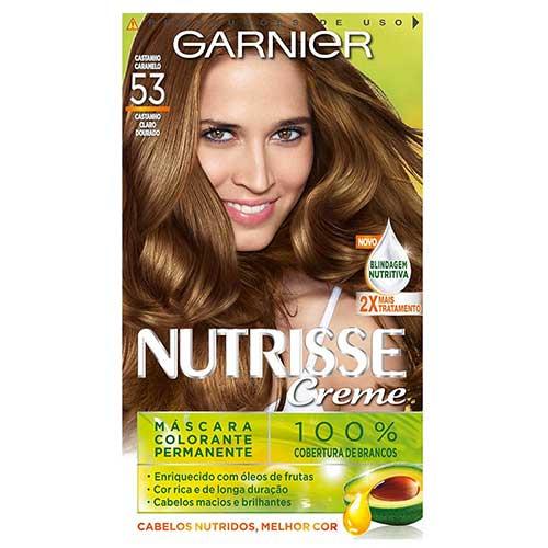 cabelo caramelo na tonalidade castanho claro dourado