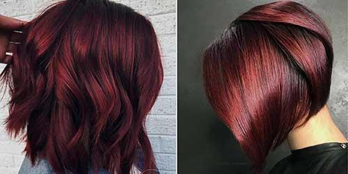 cabelo curto pintado de vinho em cortes chanel