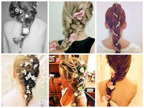 imagem de penteados femininos com trança
