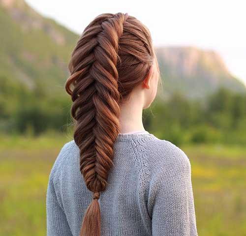 penteado tipo trança espinha de peixe para cabelo grande