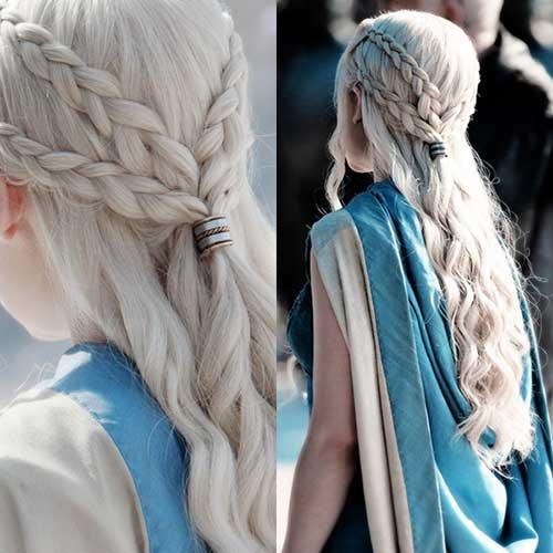 penteado medieval para festa da daenerys
