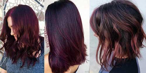 coloraçao de cabelo borgonha para morenas