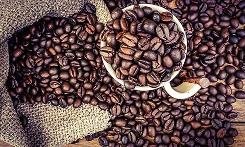 imagem de graos de cafe