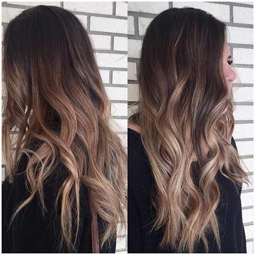 ombre hair em cabelos escuros castanhos