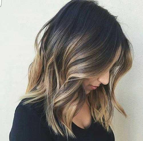 ombre hair dourado em cabelo preto medio