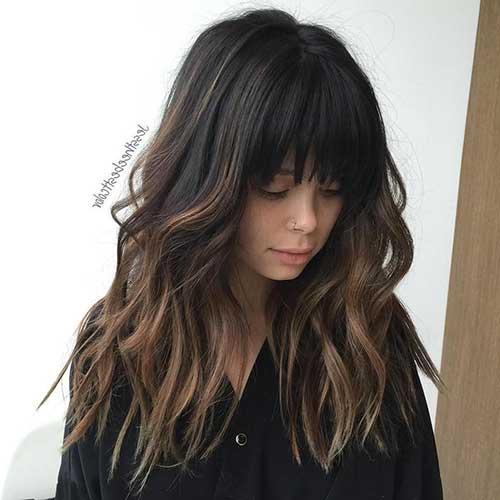 cabelo preto com ombre hair chocolate