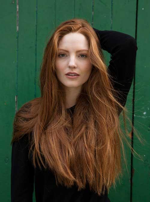 cabelo ruivo acobreado caramelo longo e natural