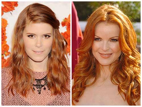 foto de cabelos acobreados de famosas