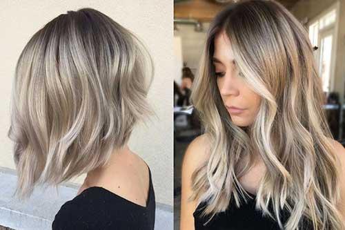 cabelo loiro acinzentado para morenas