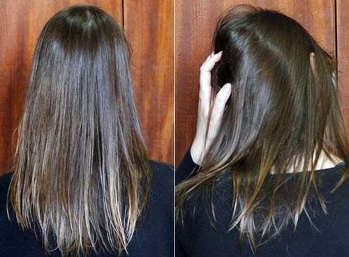 cabelo desembaraçado com condicionador de qualidade