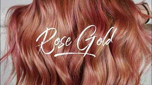 cabelo rose gold e tendencia pro ano