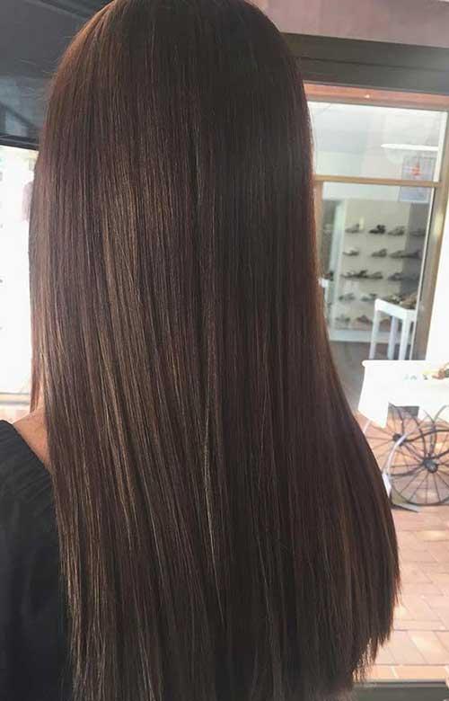 cabelo liso cor chocolate