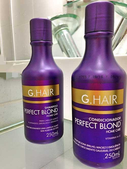 linha de produtos g hair loiro perfeito