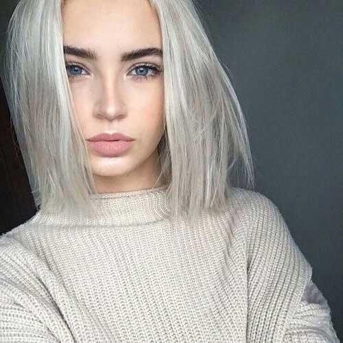 corte de cabelo curto loiro platinado