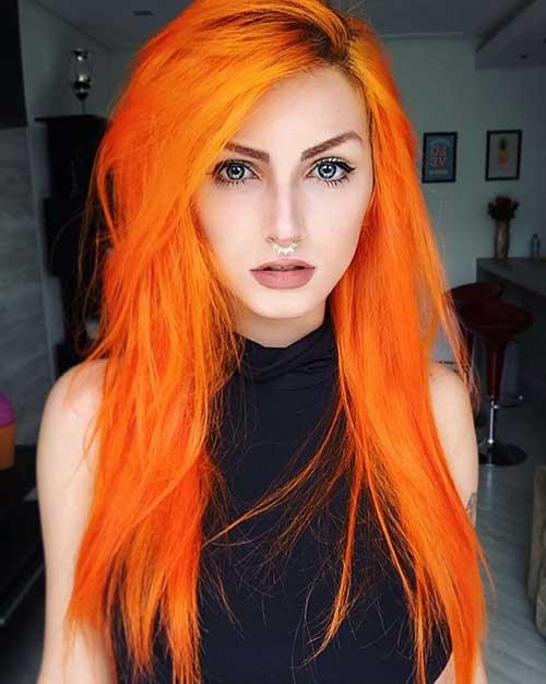 cor de cabelo laranja em tumblr model