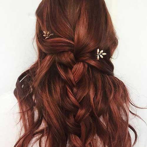 cabelo tingido de ruivo mogno