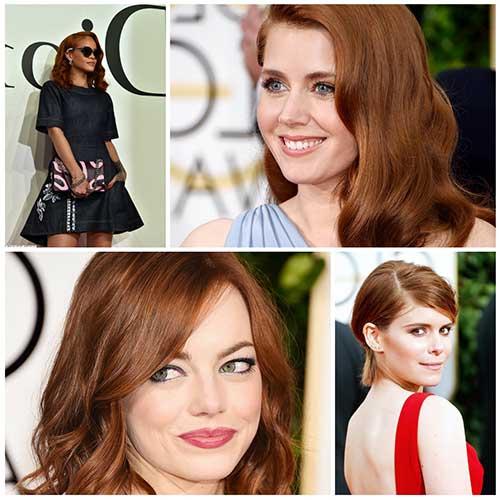 cabelo pintado na cor ronze nas famosas