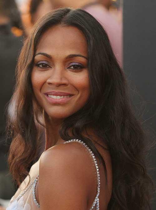 cabelo marrom escuro em atriz negra famosa
