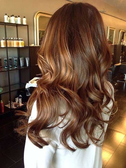 cabelo com mechas caramelizadas bonitas