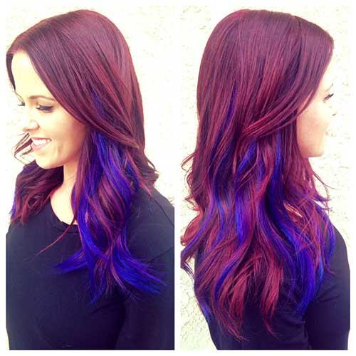 cabelo colorido com tres tons diferentes
