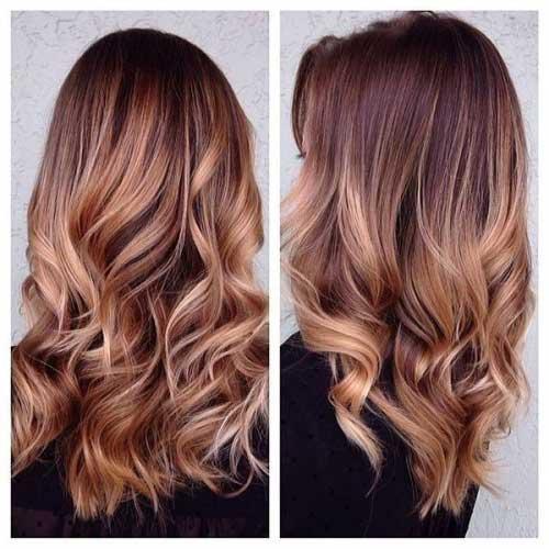 cabelo com mechas ombre hair caramelo