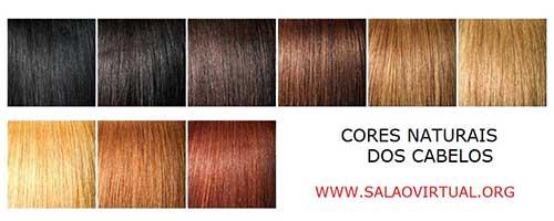 tabela com cores de cabelo naturais