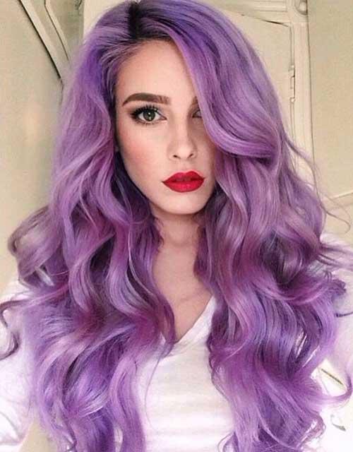 cabelo ondulado lilas