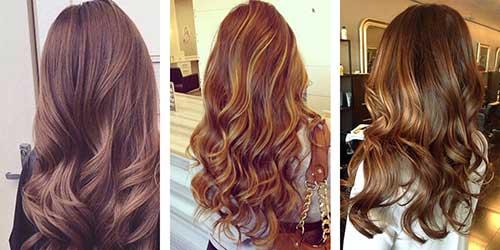 variaçoes do cabelo castanho