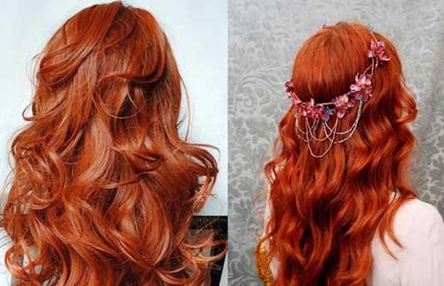 nuances de cabelo ruivo