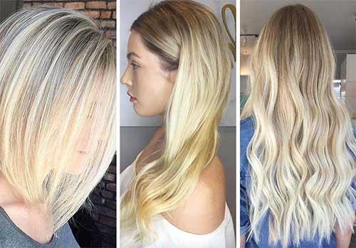 variedades de cabelo loiro platinado