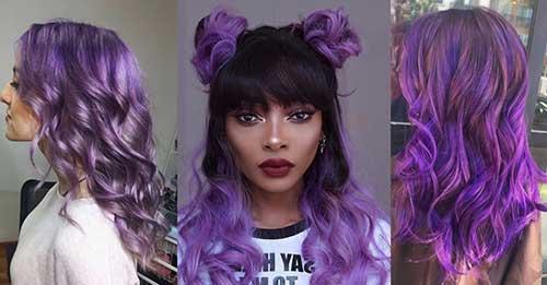 tipos de cabelo cor de violeta