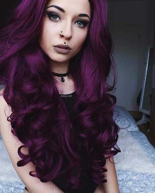 cabelo violeta escuro e bonito