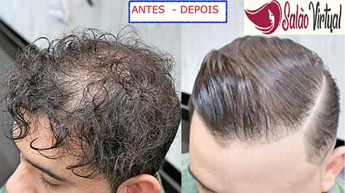 resultado de alisamento japones no cabelo de homem