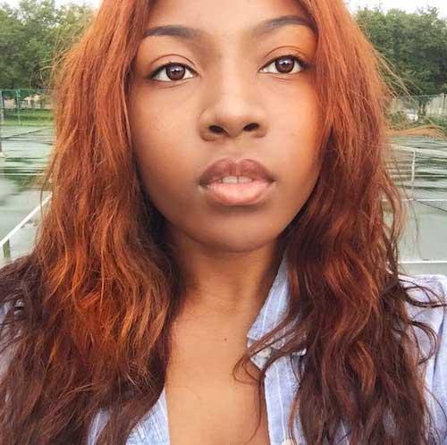 cabelo acobreado alaranjado para negra media