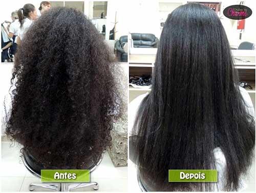 resultado de escova progressiva em cabelo crespo