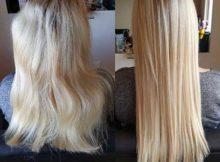 resultado de escova progressiva em cabelos loiros tingidos