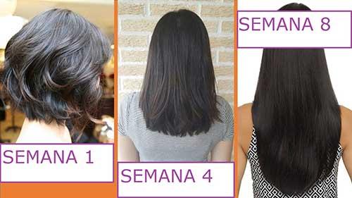 antes e depois de passar ovo no cabelo por 2 meses