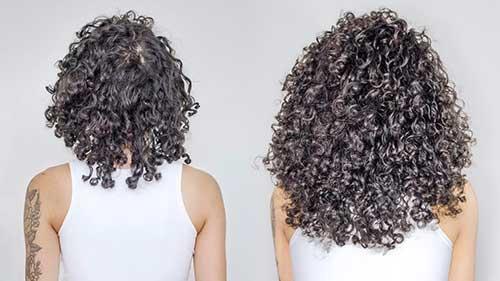 resultado do oleo de canola no cabelo cacheado por 4 meses