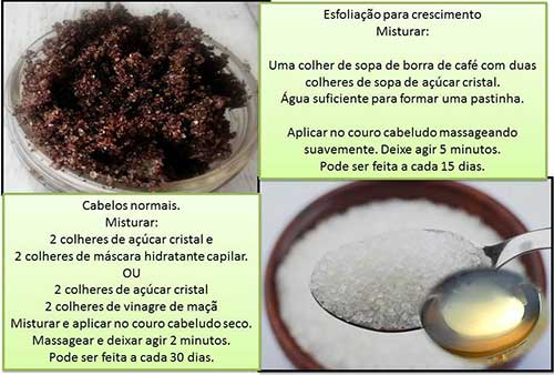 receitas caseiras de esfoliante capilar