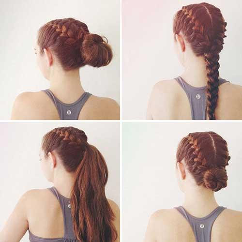 penteado trança boxeadora em cabelo longo